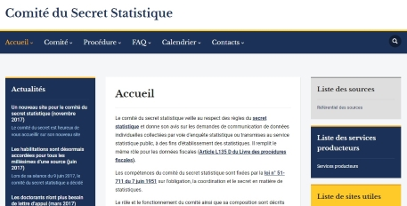 New website Committee on Statistical Secrecy
